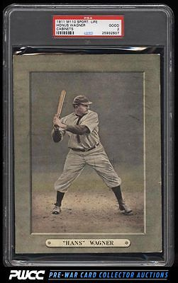 1911 M110 Sporting Life Cabinets Honus Wagner PSA 2 GD PWCC