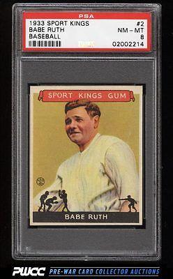 1933 Goudey Sport Kings SETBREAK Babe Ruth 2 PSA 8 NMMT PWCC
