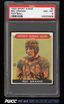 1933 Goudey Sport Kings SETBREAK Red Grange FOOTBALL 4 PSA 8 NMMT PWCC