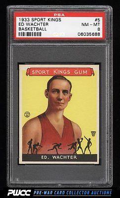 1933 Goudey Sport Kings SETBREAK Ed Wachter BASKETBALL 5 PSA 8 NMMT PWCC