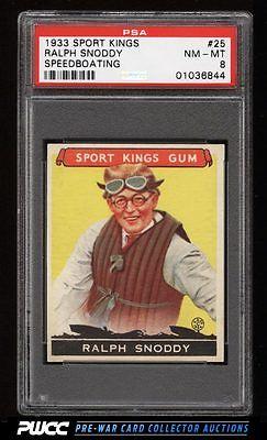 1933 Goudey Sport Kings SETBREAK Ralph Snoddy BOATING 25 PSA 8 NMMT PWCC