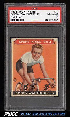 1933 Goudey Sport Kings SETBREAK Bobby Walthour Jr CYCLING 31 PSA 8 NMMT PWCC