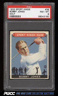 1933 Goudey Sport Kings SETBREAK Bobby Jones GOLF 38 PSA 8 NMMT PWCC
