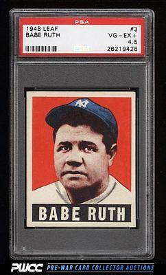 1948 Leaf Babe Ruth 3 PSA 45 VGEX PWCC