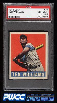 1948 Leaf Ted Williams 76 PSA 45 VGEX PWCCHE