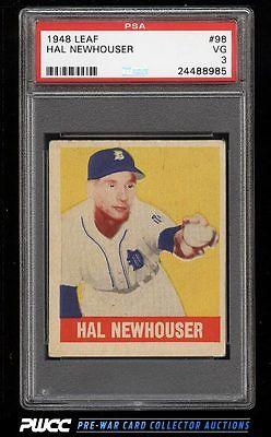 1948 Leaf Hal Newhouser SP ROOKIE RC 98 PSA 3 VG PWCC