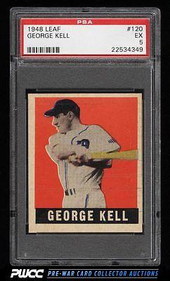 1948 Leaf George Kell SP ROOKIE RC 120 PSA 5 EX PWCC