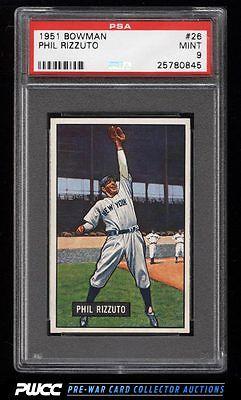 1951 Bowman Phil Rizzuto 26 PSA 9 MINT PWCC