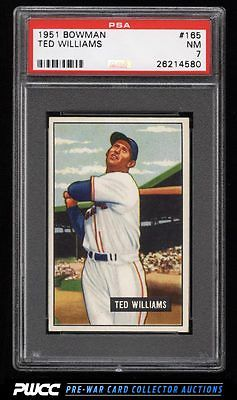 1951 Bowman Ted Williams 165 PSA 7 NRMT PWCC