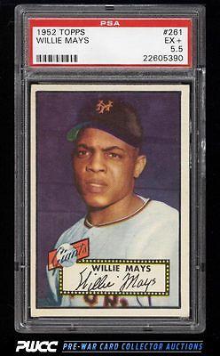 1952 Topps Willie Mays 261 PSA 55 EX PWCC