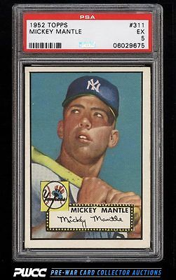 1952 Topps Mickey Mantle 311 PSA 5 EX PWCC