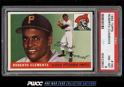 1955 Topps Roberto Clemente ROOKIE RC 164 PSA 8 NMMT PWCC