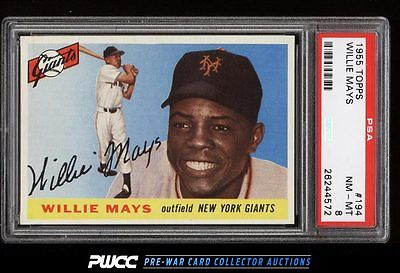 1955 Topps Willie Mays 194 PSA 8 NMMT PWCC