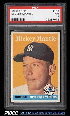 1958 Topps Mickey Mantle 150 PSA 7 NRMT PWCC