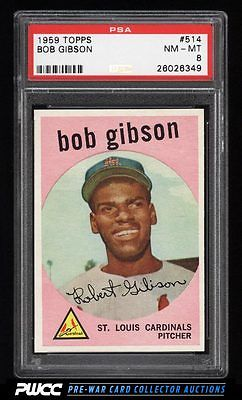 1959 Topps Bob Gibson ROOKIE RC 514 PSA 8 NMMT PWCC