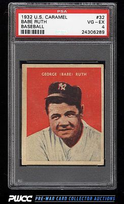 1932 US Caramel Babe Ruth 32 PSA 4 VGEX PWCC