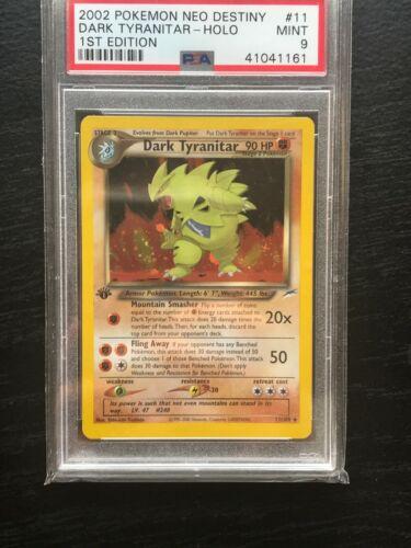 Dark Tyranitar 1st Edition PSA 9 Mint Neo Destiny 11105 Holo Pokemon Card