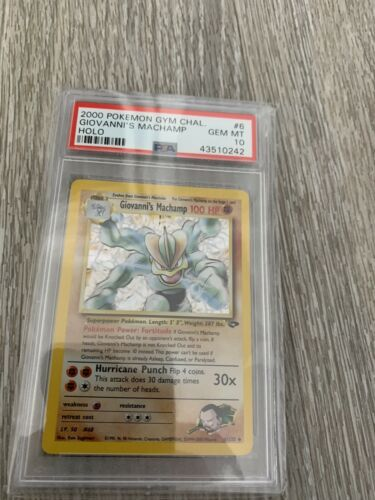 Pokemon  Giovannis Machamp Holo  Gym Challenge 6132  PSA 10  GEM MINT