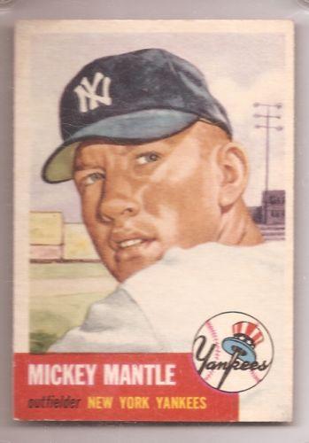 1953 Topps MMantle  82 Lot 2