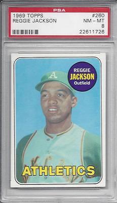 Reggie Jackson 1969 Topps RC  PSA 8