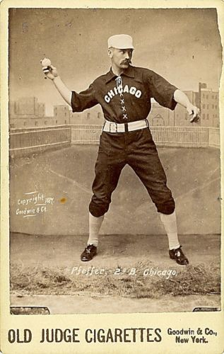 Baseball player Fred Pfeffer 2nd base and short stop for the Chicag Lot 207B