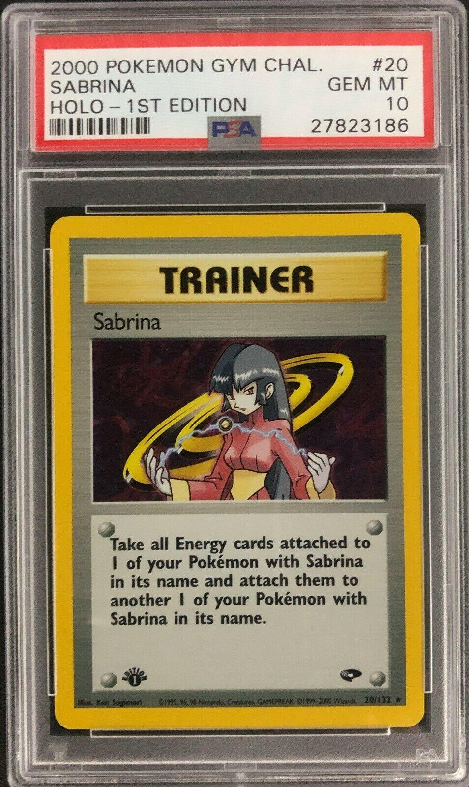 1st Edition Gym Challenge Sabrina Holo Pokemon Card Mint PSA 10