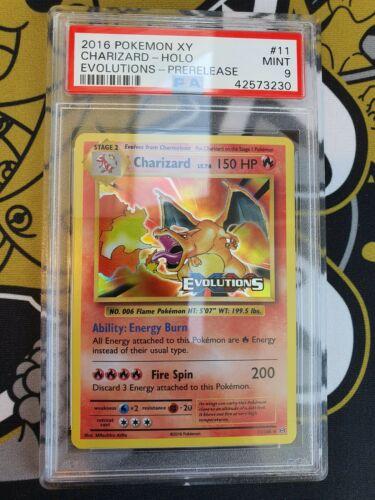 PSA 9 Charizard Glurak Prerelease XY Evolutions Pokemon
