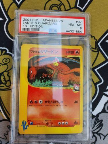 PSA 8 Charizard Glurak VS Series First Edition Pokemon