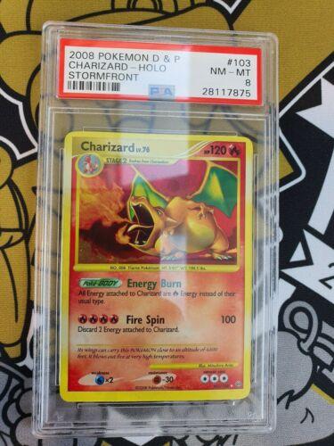 PSA 8 Charizard Glurak Stormfront Pokemon