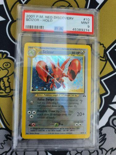 PSA 9 Scizor Scherox Neo Discovery Holo Pokemon