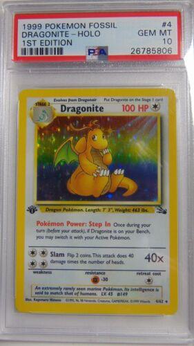 Dragonite 462 Fossil 1st Edition PSA 10 Gem Mint Holo Rare Pokemon Card