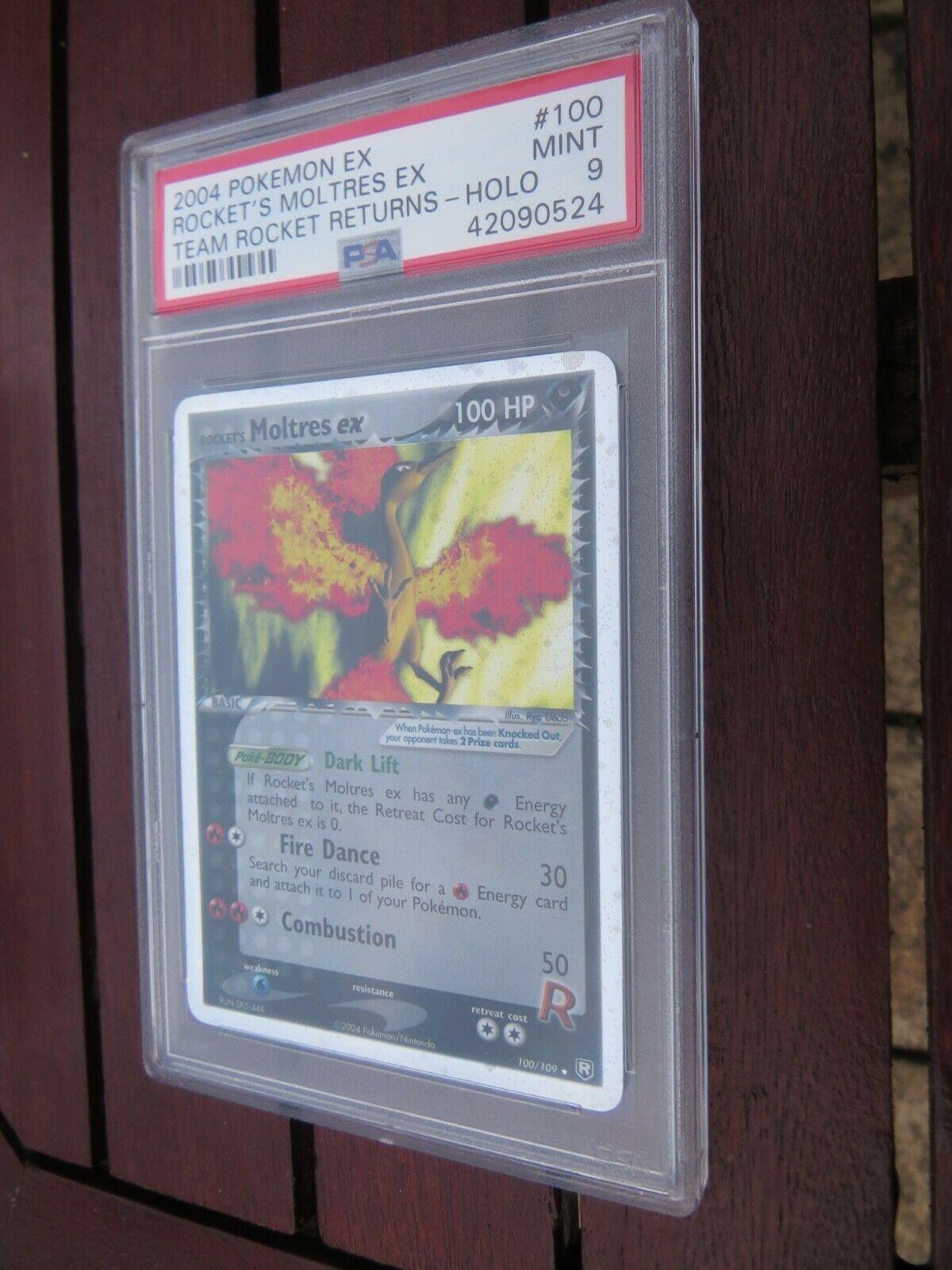 Pokemon Card  Team Rocket Returns  100 Moltres ex PSA 9 Mint