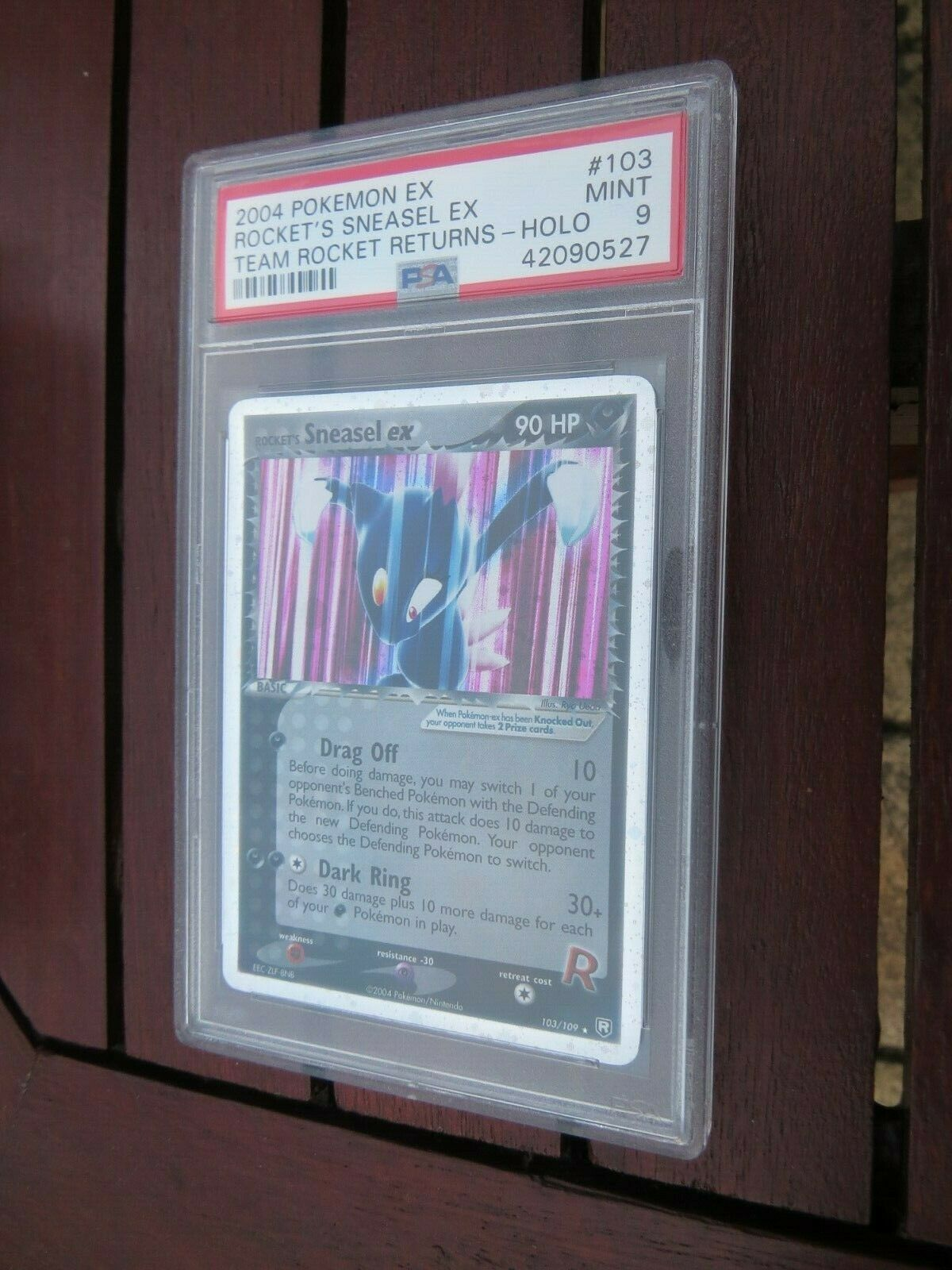Pokemon Card  Team Rocket Returns  103 Sneasel ex  PSA 9 Mint