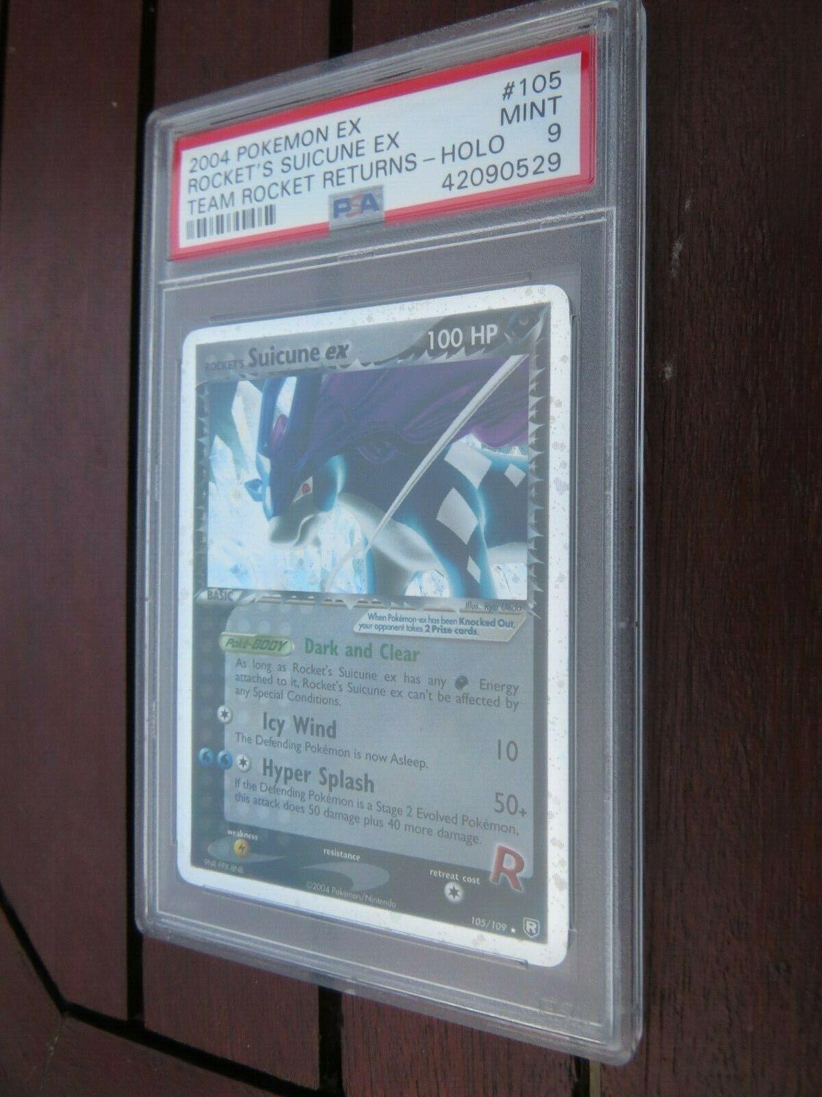 Pokemon Card  Team Rocket Returns  105 Suicune ex  PSA 9 Mint