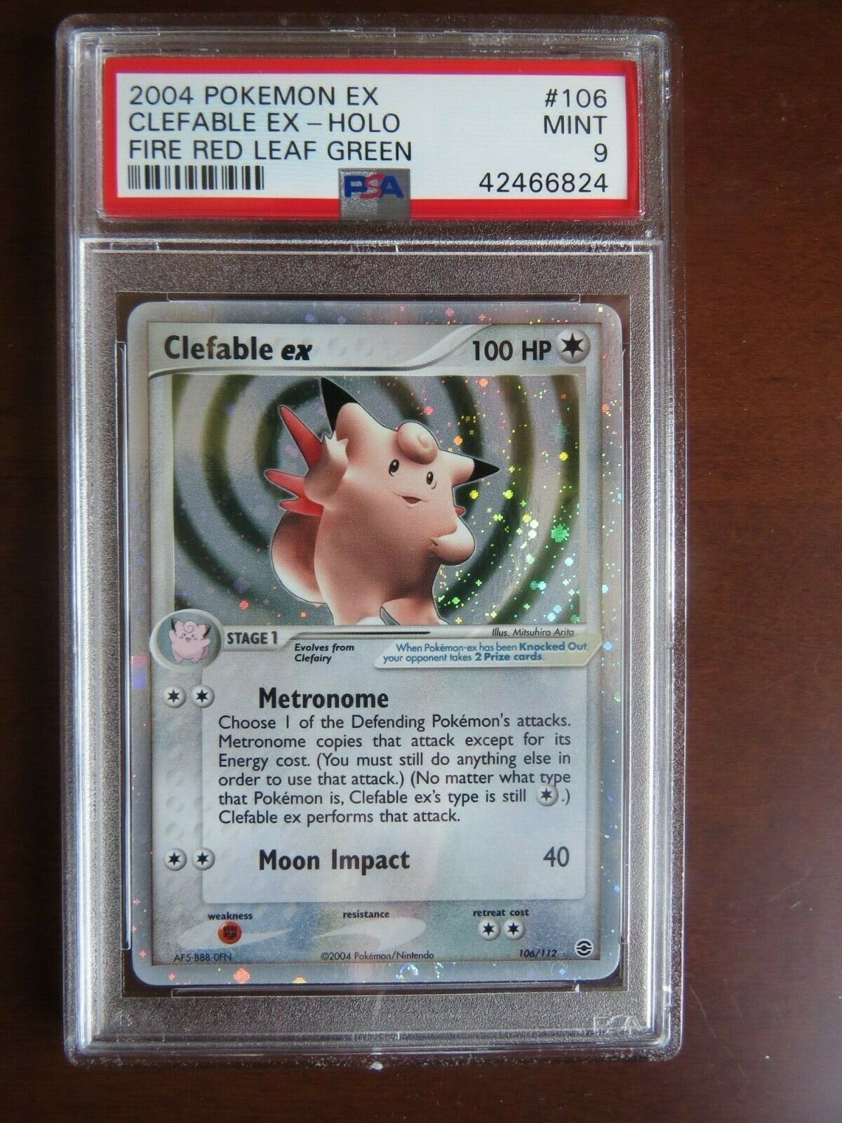 Pokemon Card  Fire Red Leaf Green 106 Clefable ex PSA 9 Mint