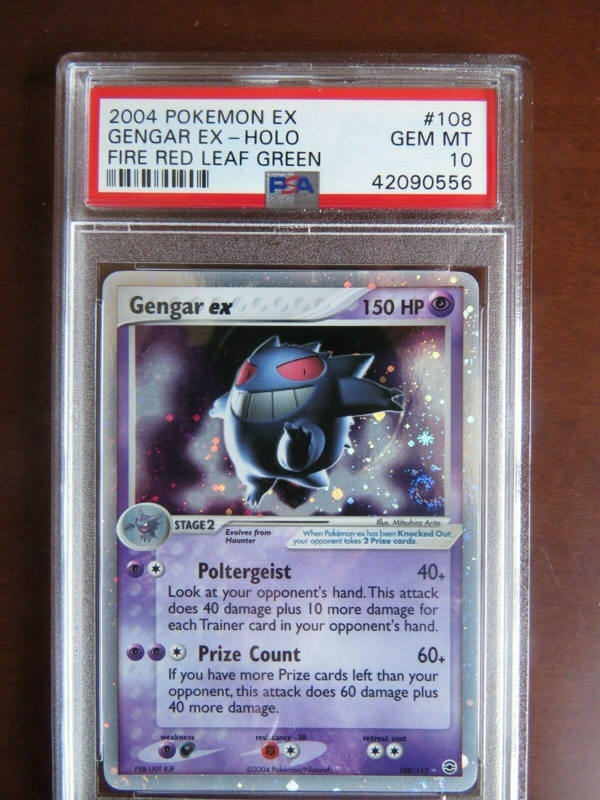 Pokemon Card  Fire Red Leaf Green 108 Gengar ex PSA 10 Gem Mint
