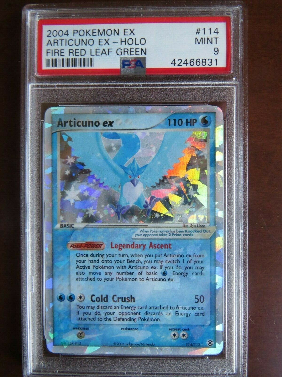 Pokemon Card  Fire Red Leaf Green 114 Articuno PSA 9 Mint