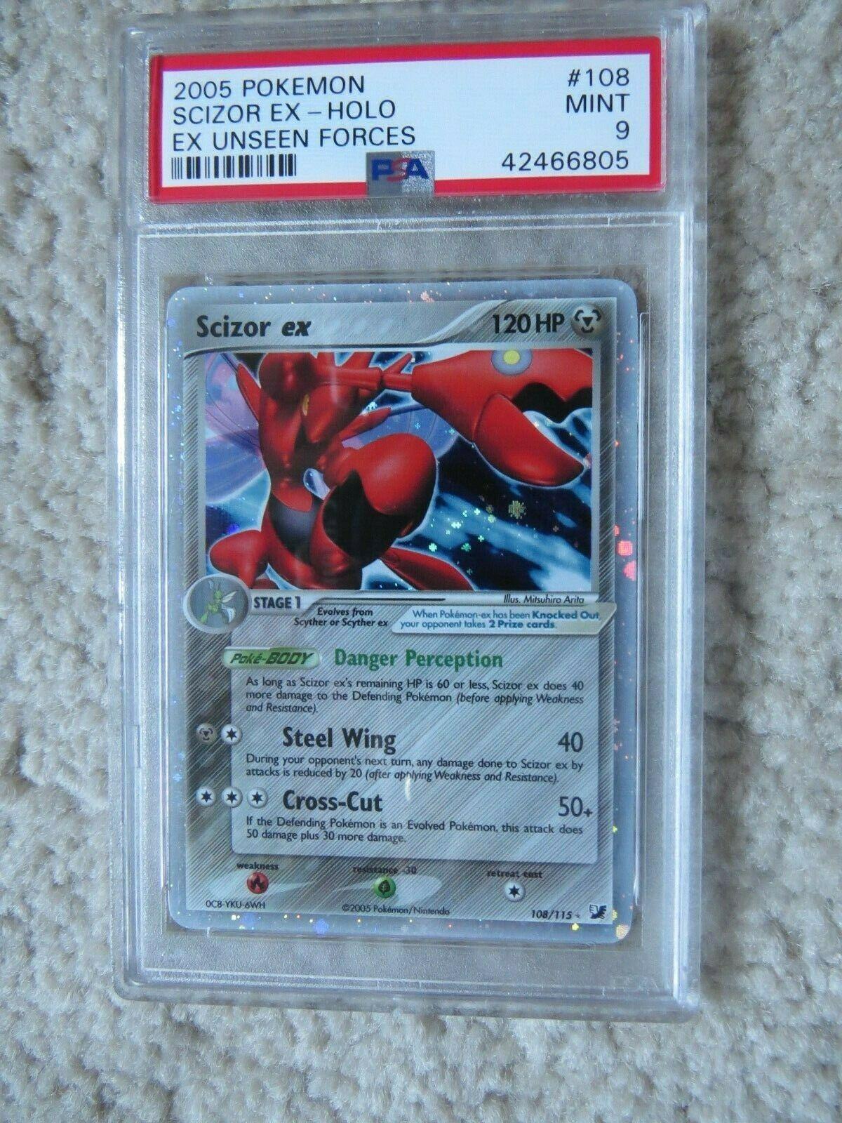 Pokemon Card  Ex Unseen Forces  108 Scizor ex PSA 9 Mint