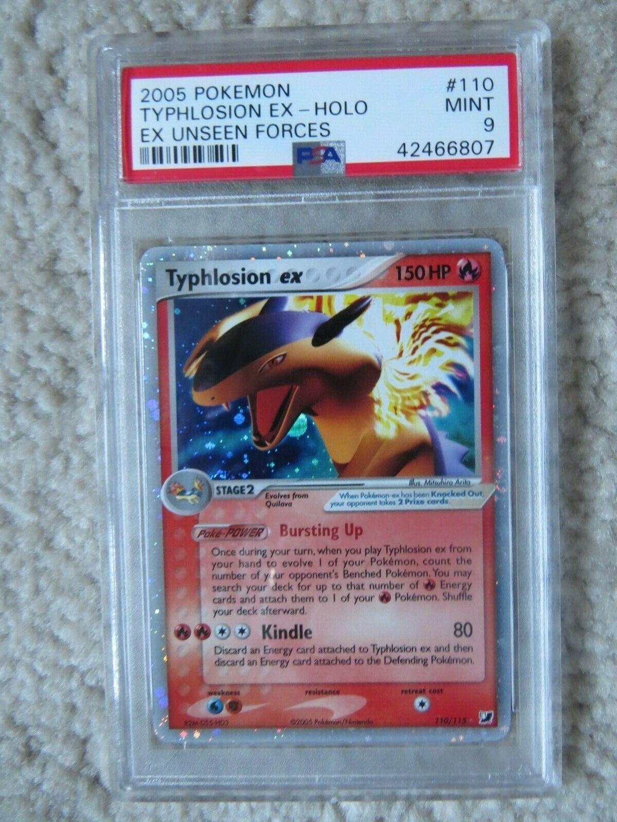 Pokemon Card  Ex Unseen Forces  110 Typhlosion ex PSA 9 Mint