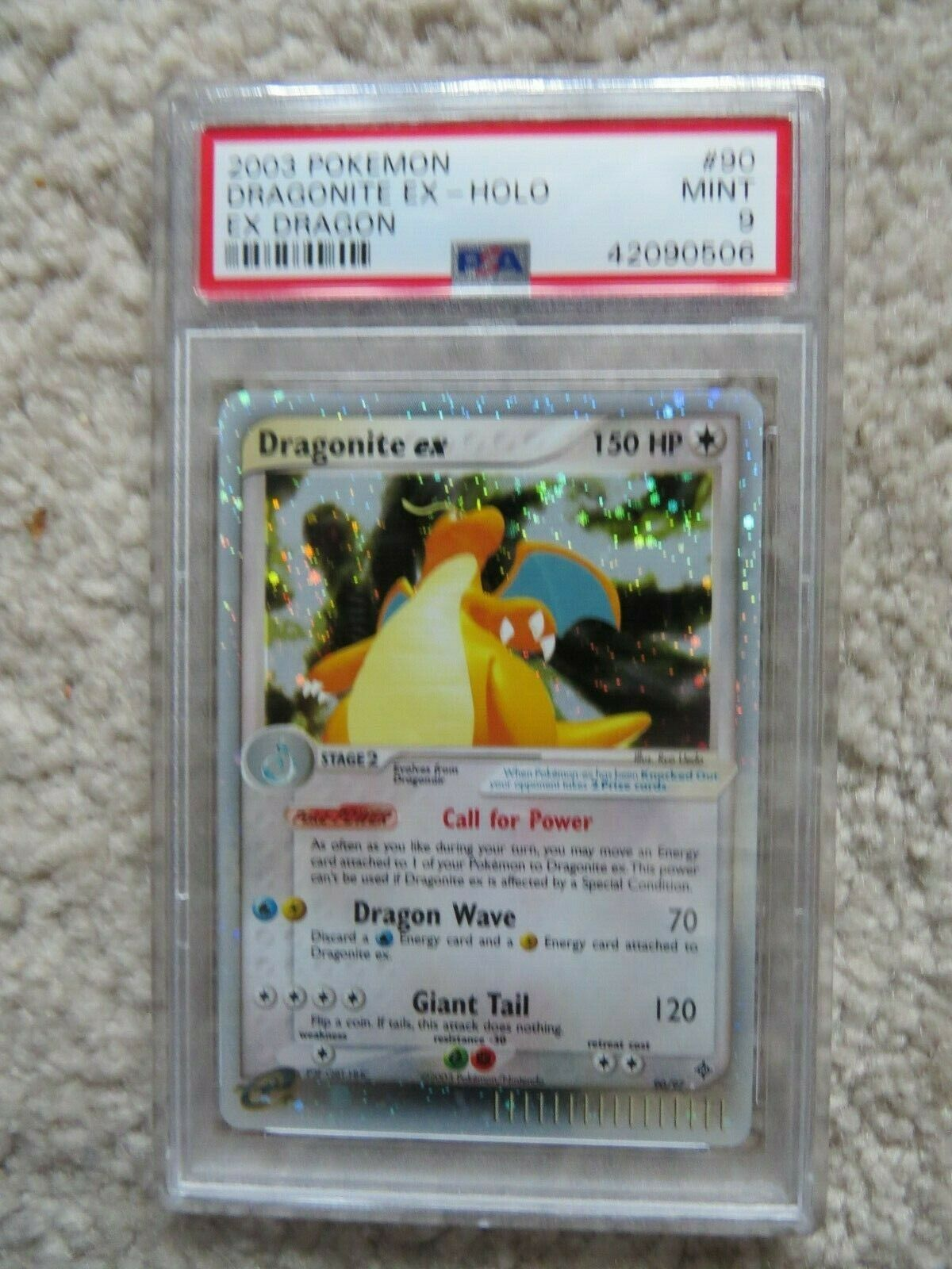 Pokemon Card  Ex Dragon 90 Dragonite ex PSA 9 Mint