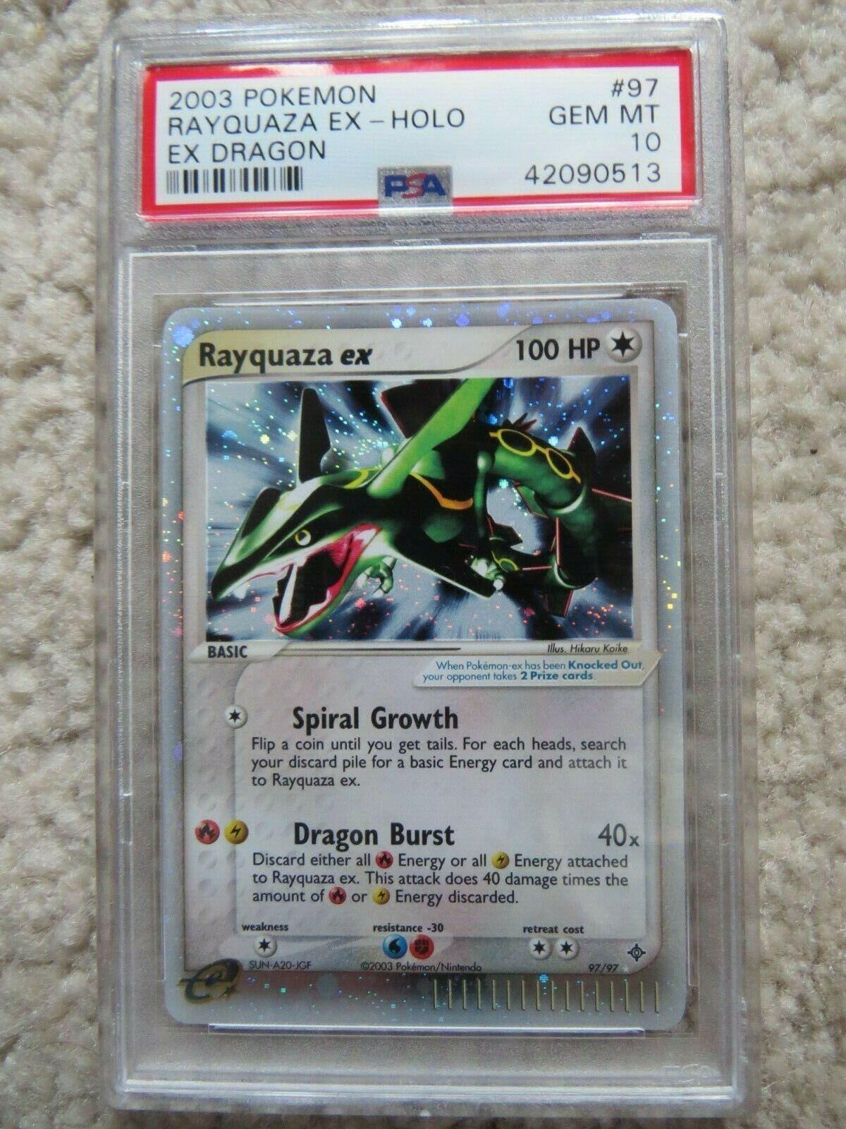 Pokemon Card  Ex Dragon 97 Rayquaza ex PSA 10 Gem Mint