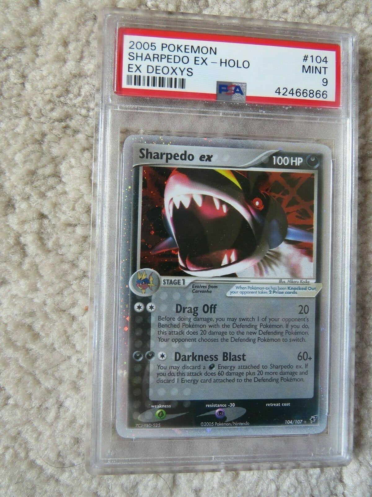Pokemon Card  Ex Deoxys  104 Sharpedo ex PSA 9 Mint