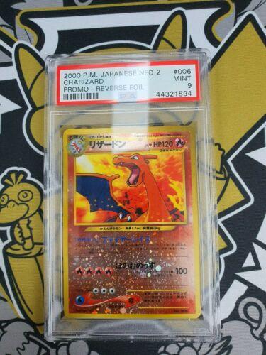 Charizard Glurak Promo Rev Foil PSA 9 Mint Pokemon