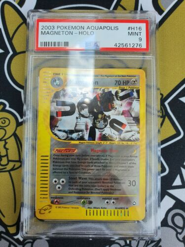Magneton Aquapolis Holo PSA 9 Mint Pokemon