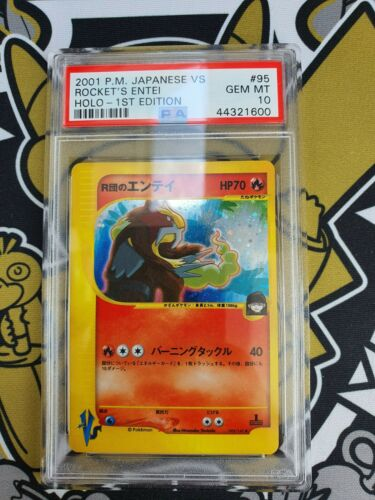 Entei VS Series First Edition Holo PSA 10 Gem Mint Pokemon