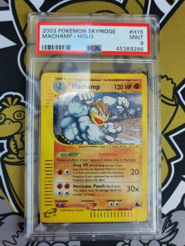 Machamp Machomei Skyridge Holo PSA 9 Mint Pokemon