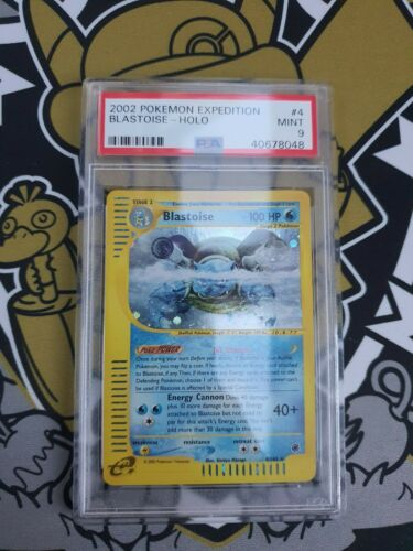 Blastoise Turtok Expedition Holo PSA 9 Mint Pokemon