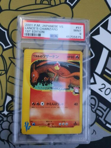 Lances Charizard Glurak VS Series First Edition PSA 9 Mint Pokemon