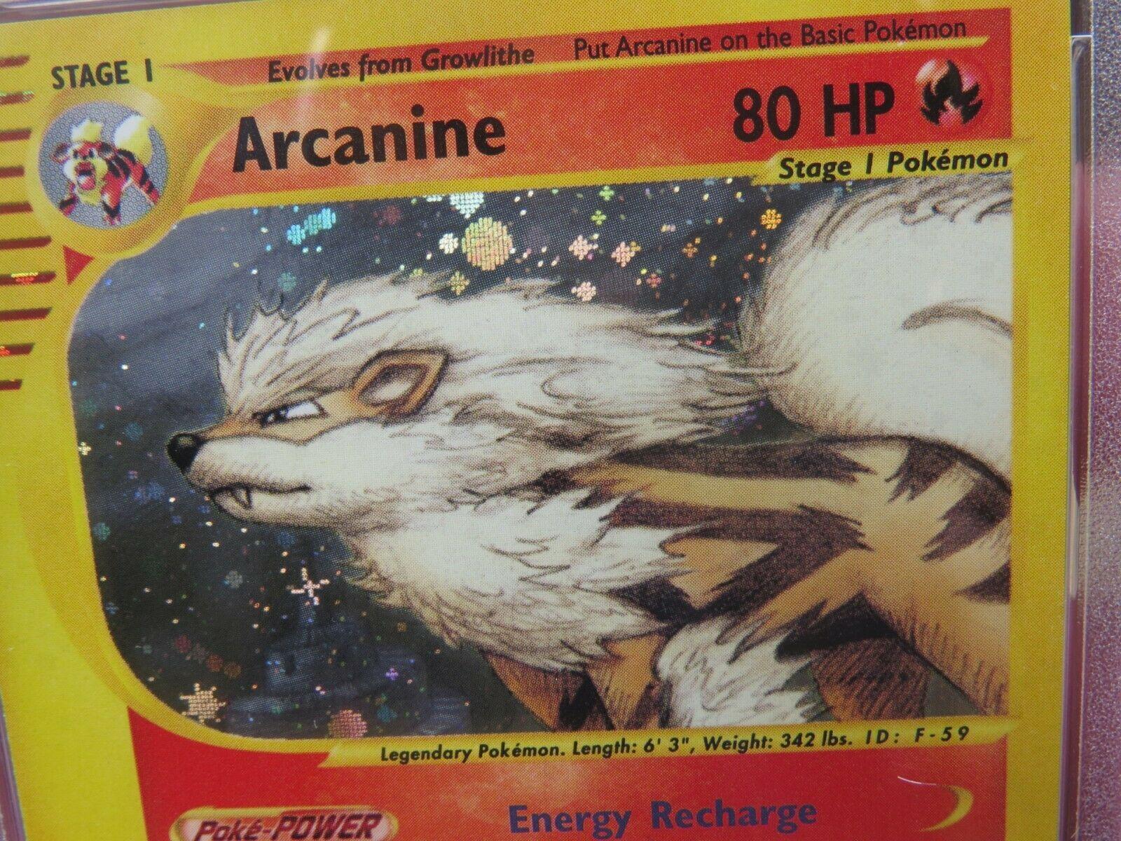 Pokemon Card  Skyridge Holo H2 Arcanine PSA 10 Gem Mint