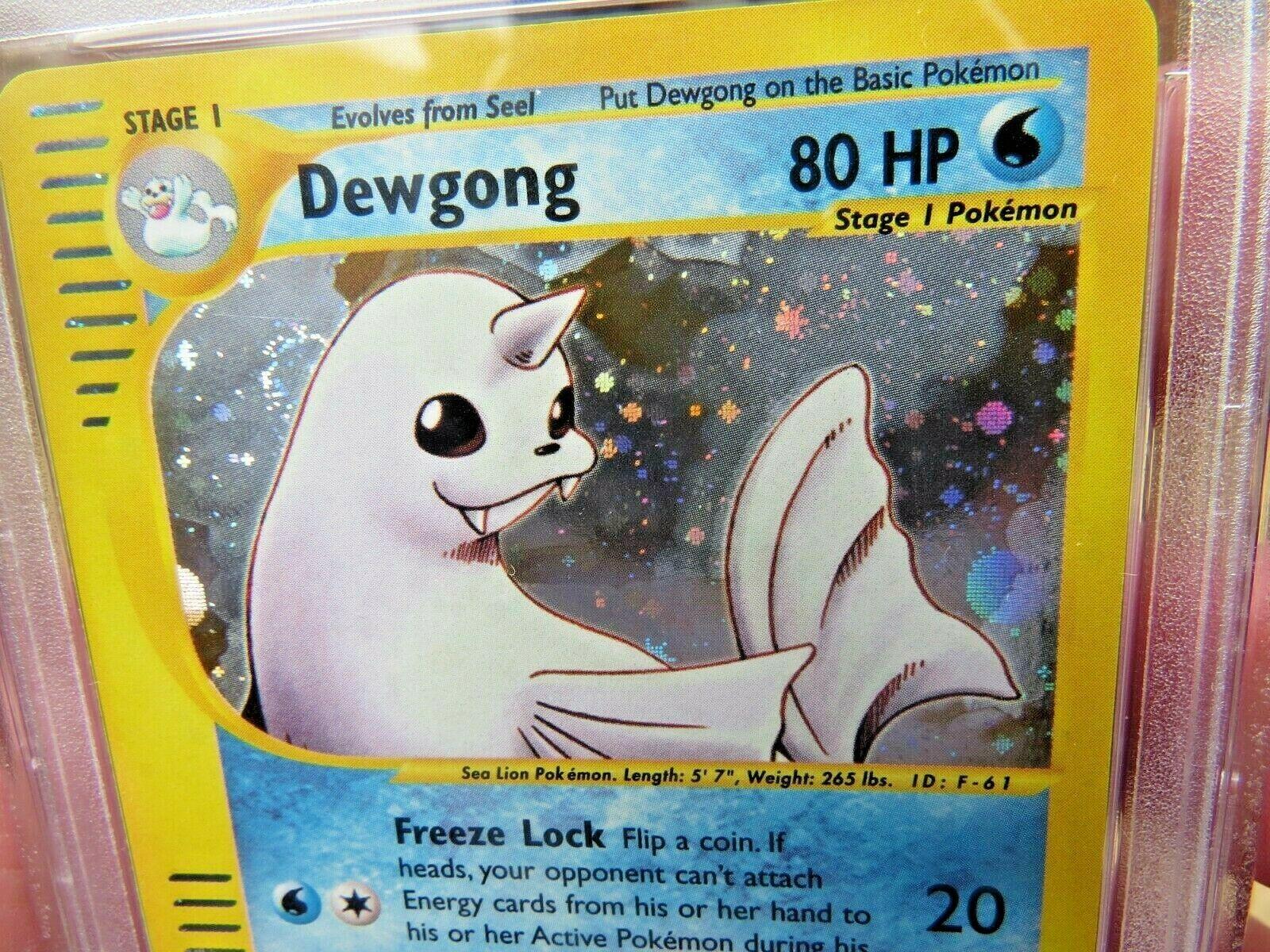 Pokemon Card  Skyridge Holo H6 Dewgong PSA 9 Mint
